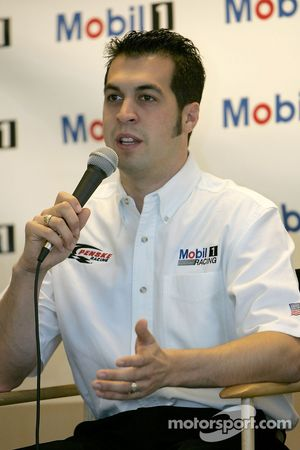 Press conference: Sam Hornish Jr. talks to media announcing the Mobil car for Penske racing to compe