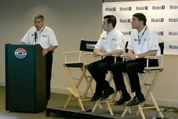 Press conference: Sam Hornish Jr., Pat DiDomenicis, Motorsport Manager of the Americas for Mobil Oil, and Tim Cindric, President Penske Performance Inc.