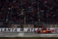 Mike Bliss takes the checkered flag