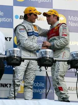 Podium: race winner Bruno Spengler and Tom Kristensen