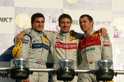 DTM Championship podium 2006: champion Bernd Schneider with Bruno Spengler and Tom Kristensen