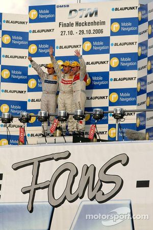 DTM Championship podium 2006: champion Bernd Schneider with Bruno Spengler and Tom Kristensen