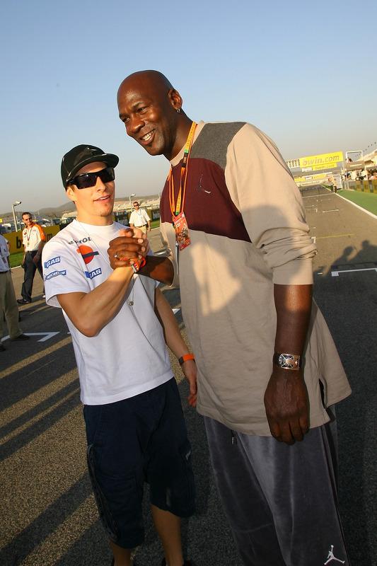 Nicky Hayden y Michael Jordan