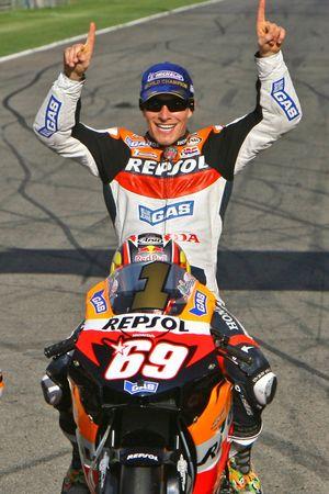 Shooting photo des Champions 2006 de Moto : le Champion MotoGP Nicky Hayden