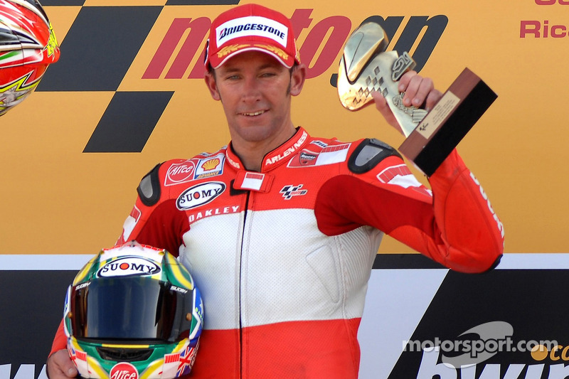 Podium: race winner Troy Bayliss