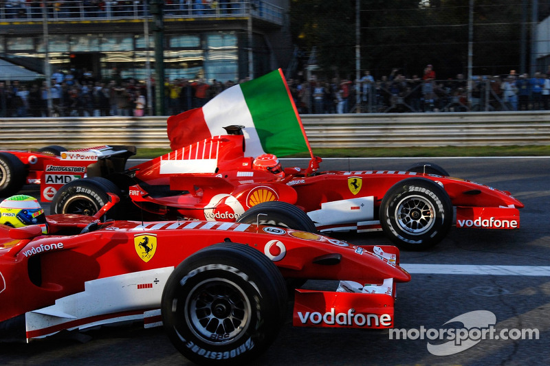 Michael Schumacher ve Felipe Massa