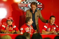 Press conference: Felipe Massa, Jean Todt, Luca di Montezemolo and Michael Schumacher