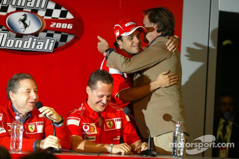 basın toplantısı: Jean Todt, Michael Schumacher, Felipe Massa ve Luca di Montezemolo
