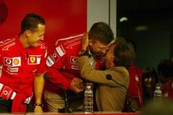 basın toplantısı: Michael Schumacher, Ross Brawn ve Luca di Montezemolo