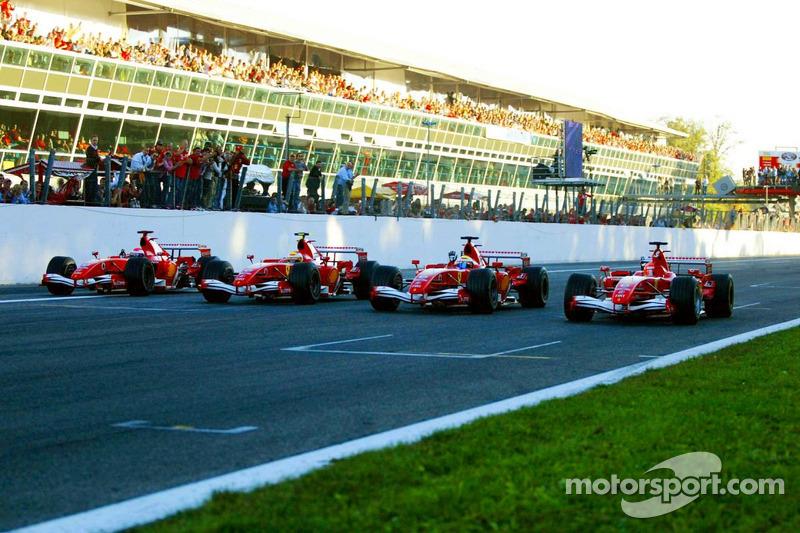 Marc Gene, Luca Badoer, Felipe Massa ve Michael Schumacher