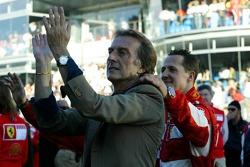Luca di Montezemolo y Michael Schumacher