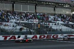 Juan Pablo Montoya leads Bobby Gerhart