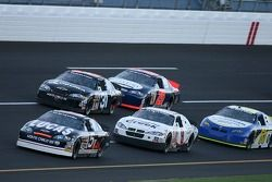 Bobby Gerhart leads a group of cars