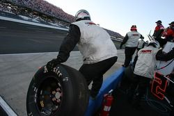 Lucas Oil Chevy crew members ready for a pitstop