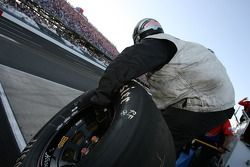 Lucas Oil Chevy crew member ready for a pitstop