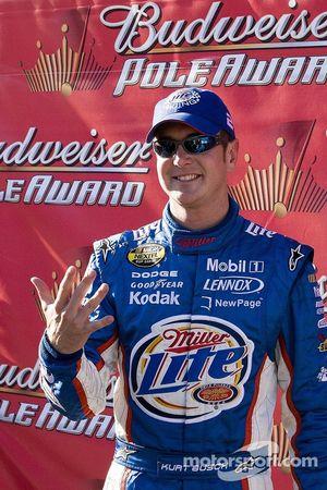 Kurt Busch Celebrates Pole Position