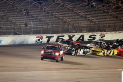 The pace truck pulls off for the green flag