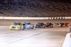 Justin Labonte leads the line to the pit lane