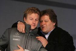 Kimi Raikkonen and Norbert Haug