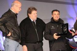 Dr. Dieter Zetsche, Norbert Haug and Jean Alesi