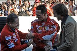 Jean Todt, Michael Schumacher e Luca di Montezemolo