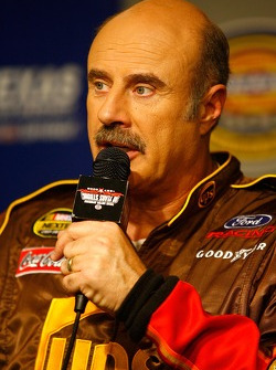Television personality Dr. Phil McGraw speaks during a press conference for the Toys for Tots annual holiday campaign kickoff