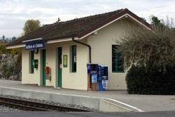Vuttlens-le-Chateaux where Michael Schumacher currenty lives: local train station
