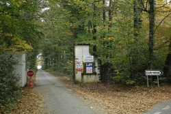 Entrance of Michael Schumacher's private house at Gland with security check point