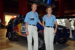 Ari Vatanen et Fabrizia Pons