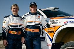 Tina Thorner y Jutta Kleinschmidt