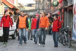 Pilotes d'A1GP à Pékin