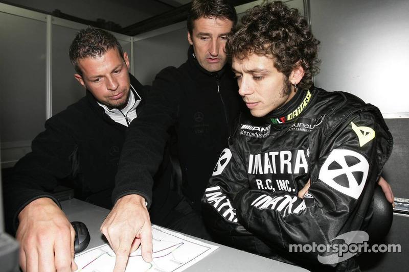 Valentino Rossi con Bernd Schneider