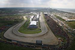 Vue aérienne du circuit