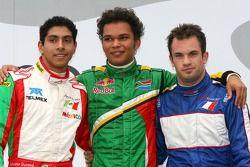 Top 3 race 1: Adrian Zaugg, Salvador Duran en Nicolas Lapierre