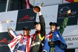 Top 3 race 2: Nico Hulkenberg, Phil Giebler en Ryan Briscoe