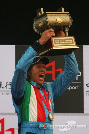Podium: race winner Enrico Toccacelo