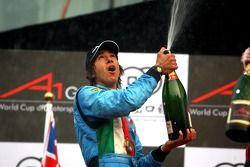 Podium: race winner Enrico Toccacelo