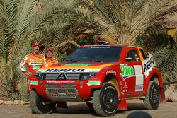 Team Repsol Mitsubishi Ralliart presentation in Morocco: Luc Alphand and Gilles Picard