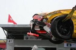 Wrecked car of Diego Romanini