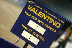 Zeittafel für Valentino Rossi, Subaru Impreza WRC