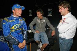 Petter Solberg, Valentino Rossi y Sébastien Loeb