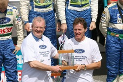 Malcolm Wilson BP Ford WRC, Team Manager with Parry Jones Ford Group, Vice President celebrate 2006