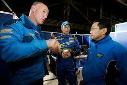 Paul Howarth, Petter Solberg and Shigeo Sugaya