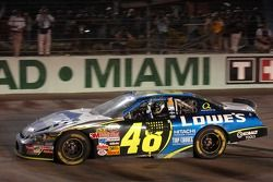 2006 NASCAR Nextel Cup champion Jimmie Johnson celebrates