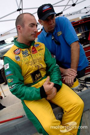 Marcos Ambrose chats with Stacy Compton