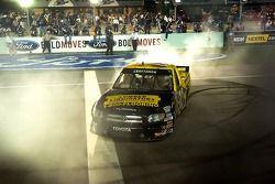 2006 NASCAR Craftsman Truck Series champion Todd Bodine celebrates