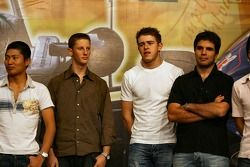 Kazuya Oshima, Romain Grosjean, Paul di Resta, Robert Streit