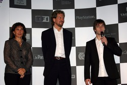 Press conference: Sébastien Loeb, Michèle Mouton and Fredrik Johnsson on stage