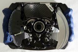 Special Parts for Alex Zanardi driving F1, like direksiyon ve clutch ve accelerator, changed break p