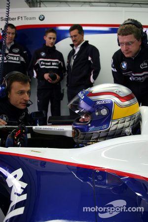 Alex Zanardi ve Dr. Mario Theissen, BMW Motorsport Direktör